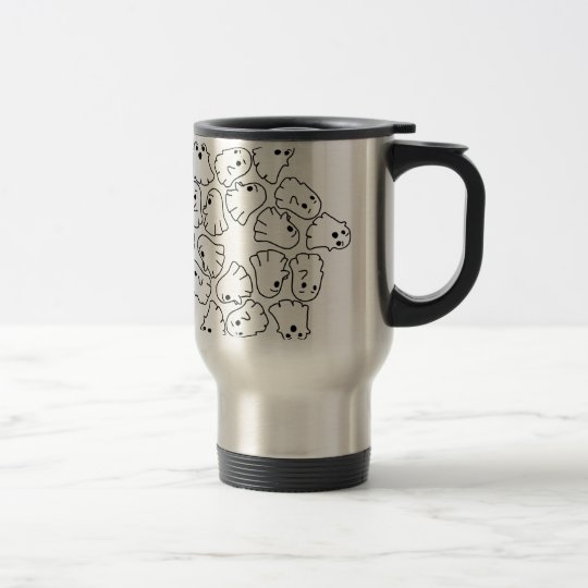 ghosts cute Halloween ghost Travel Mug