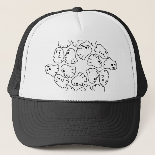 ghosts cute Halloween ghost Trucker Hat
