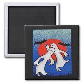 ghosts halloween magnet