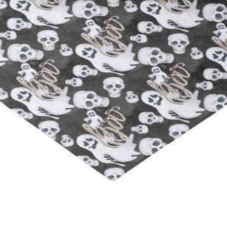 Ghosts Halloween Pattern Tissue Paper