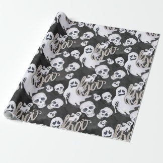 Ghosts Halloween Pattern Wrapping Paper