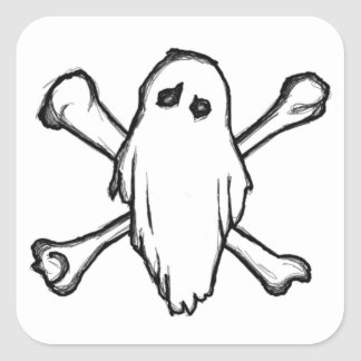 GHOSTS N BONES SQUARE STICKER
