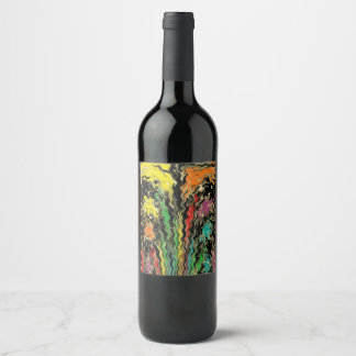 Ghosts of Rainbow Past Wine Label