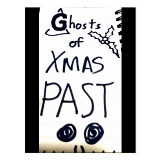 ghosts of xmas past postcard