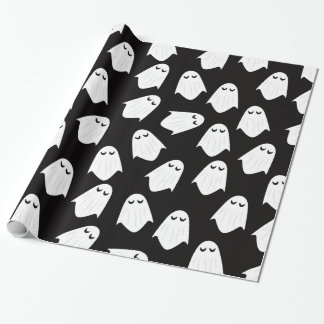 Ghosts pattern silhouette wrapping paper