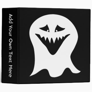 Ghoul Ghost. Black and White. 3 Ring Binders