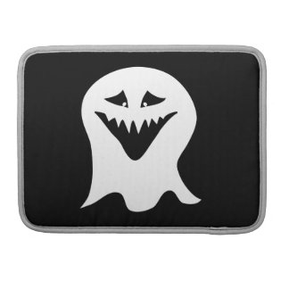 Ghoul Ghost. Black and White. Sleeve For MacBook Pro