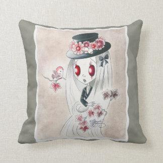 Ghoul Girl: Keira Throw Pillow