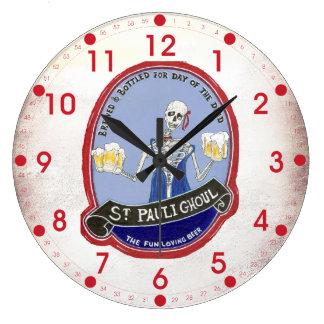 Ghoul Halloween Beer Wall Clock