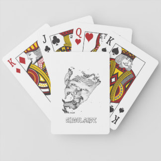Ghoulardi (Black/White) Playing Cards, Poker Playing Cards