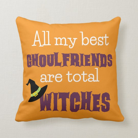 Ghoulfriends Throw Pillow