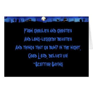 Ghoulies and Ghosties Card