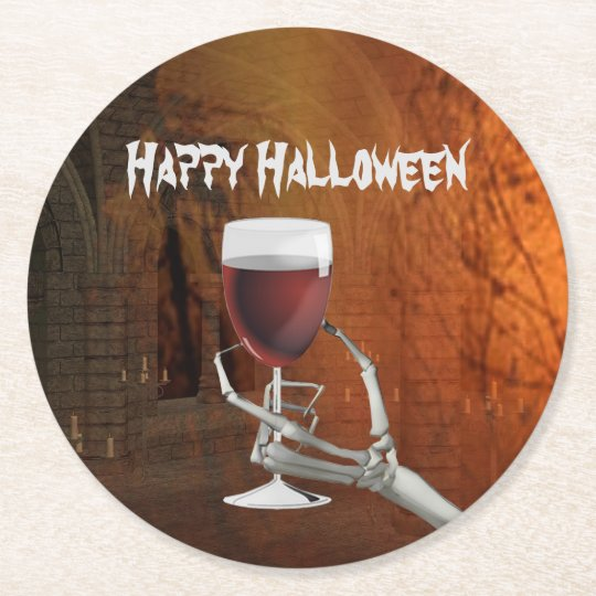 Ghoulish Halloween Cocktail Party Paper Coasters