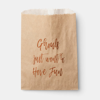 Ghouls Just Want to Have Fun Halloween Favor Bag