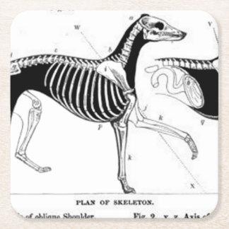 Ghundskeleton Square Paper Coaster