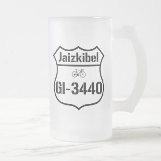 GI-3440: The Jaizkibel Frosted Glass Beer Mug