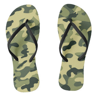 GI Camouflage Military Party Flip Flops