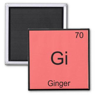Gi - Ginger Funny Chemistry Element Symbol T-Shirt Square Magnet