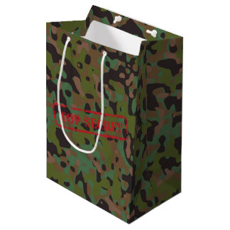 GI JOE Camouflage Party Top Secret Gift Bag