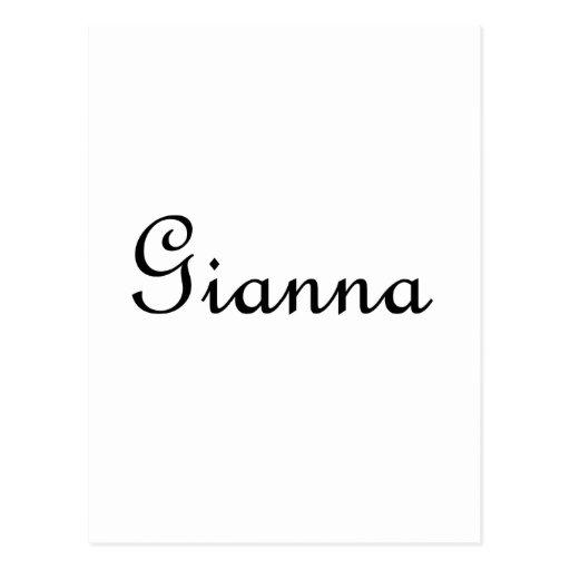 Gianna Post Card