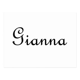 Gianna Postcard
