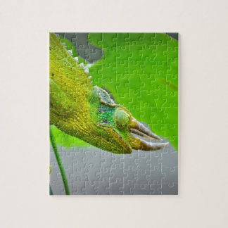 Giant 3 Horned Chameleon Jigsaw Puzzle