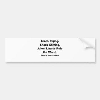 Giant Alien Lizards Bumper Sticker