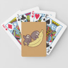 Giant Banana Sloths Bicycle Playing Cards