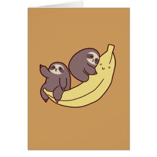 Giant Banana Sloths Card
