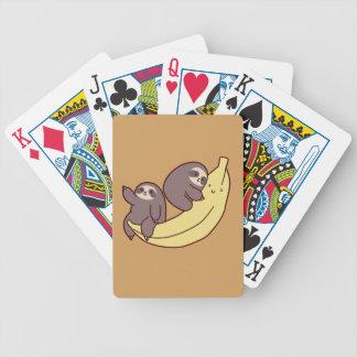 Giant Banana Sloths Poker Deck