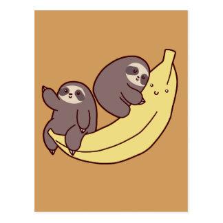Giant Banana Sloths Postcard