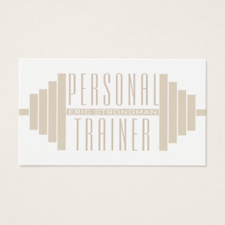 Giant barbell illustration cover business card