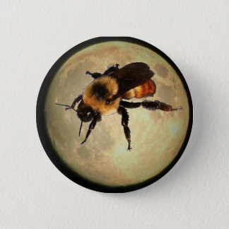 Giant Bee on the  Moon 2 Inch Round Button