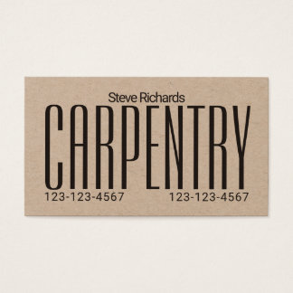 Giant bold stand out business card