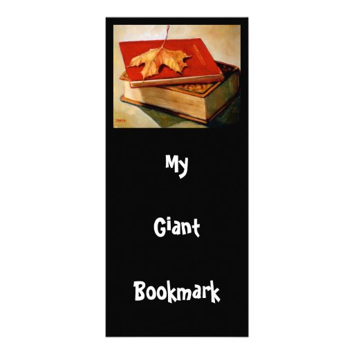GIANT BOOKMARK: ART: BOOKS: LEAF CUSTOM RACK CARDS