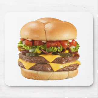 Giant burger mousepad
