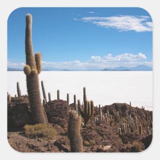 Giant cactus at the Salar de Uyuni photo sticker