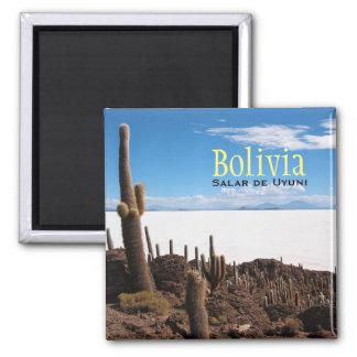 Giant cactus at the Salar de Uyuni text magnet