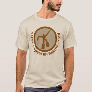 Giant Cardboard Robots Brown T-Shirt