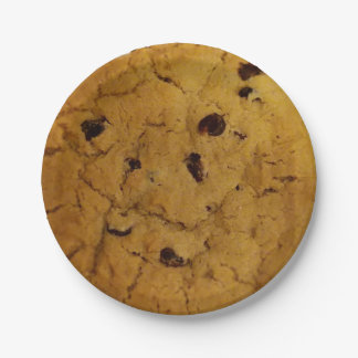 Giant Chocolate Chip Cookie 7 Inch Paper Plate