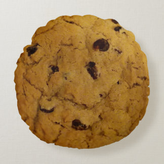 Giant Chocolate Chip Cookie Round Pillow