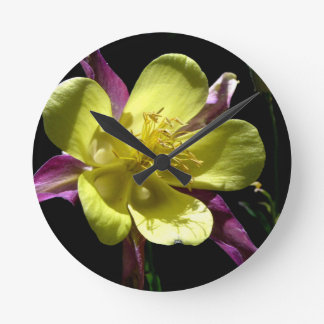 Giant Columbine Round Clock