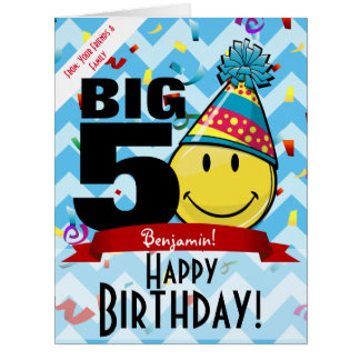 Giant Decade Mark Happy Birthday Smiling Big Card
