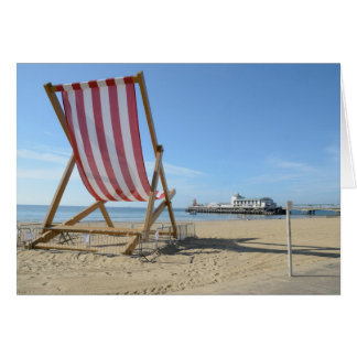 GIANT DECKCHAIR, BOURNEMOUTH BEACH, DORSET, UK CARD