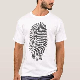 Giant Detective Fingerprint Design T-shirt