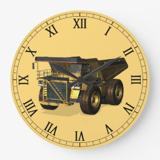 Giant Dump Truck Large Clock