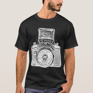 Giant East German Camera - White Negative Effect T-Shirt