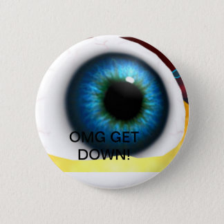 giant eyeball 2 inch round button