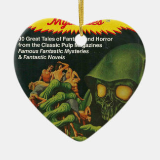 Giant Green Ghoul Ceramic Ornament