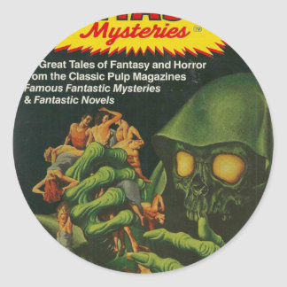 Giant Green Ghoul Classic Round Sticker
